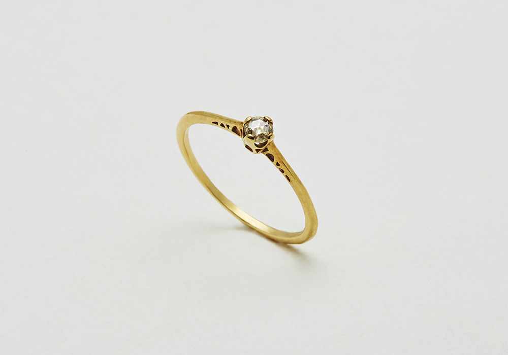 "Engagement ring-E-003〔 Church Diamond Ring 〕"" Place of the beginning for two. "" /K18YG 170,000~"
